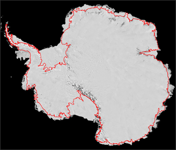 Map of Antarctica's Landmass