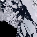 Part of Antarctica seen with the Landsat Image Mosaic of Antarctica.