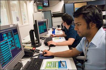 mission control room at NASA Goddard Space Flight Center