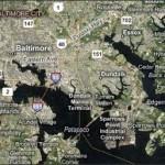 Microsoft's Virtual Earth - Baltimore, Maryland