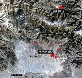 Landsat 7 image of Parachinar