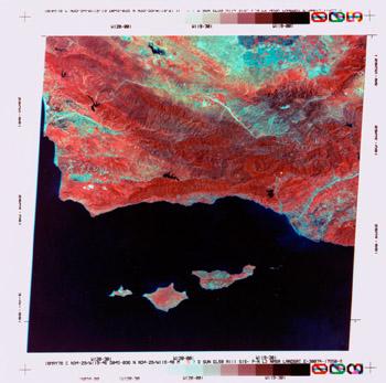Landsat 2 MSS image of the Santa Barbara Channel