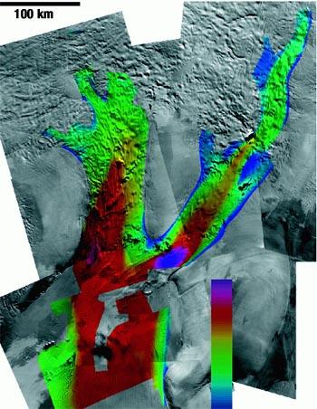 Landsat mosaic of two major West Antarctic ice streams