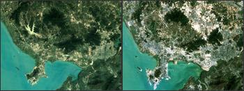 Landsat images of Shenzhen, China