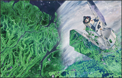 Landsat 1 with data