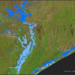 Flooding on Mozambique's coast, Jan. 2012.