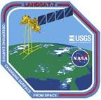 The Landsat 7 mission patch.