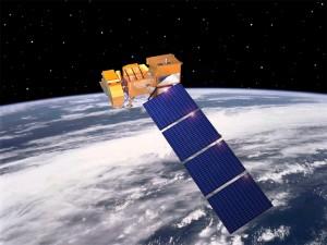 Landsat 7 rendering