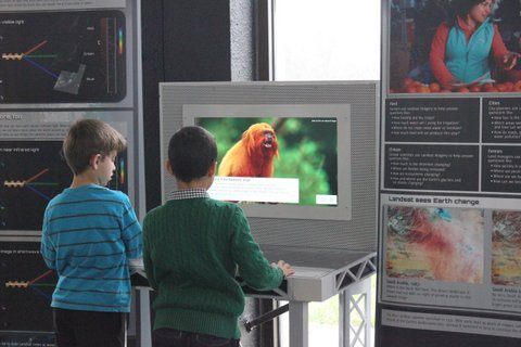 Children Using Landsat Exhibit