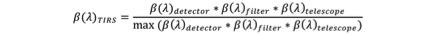TIRS spec resp formula