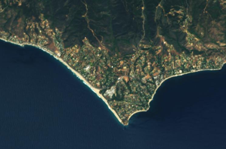 Malibu from Landsat 8