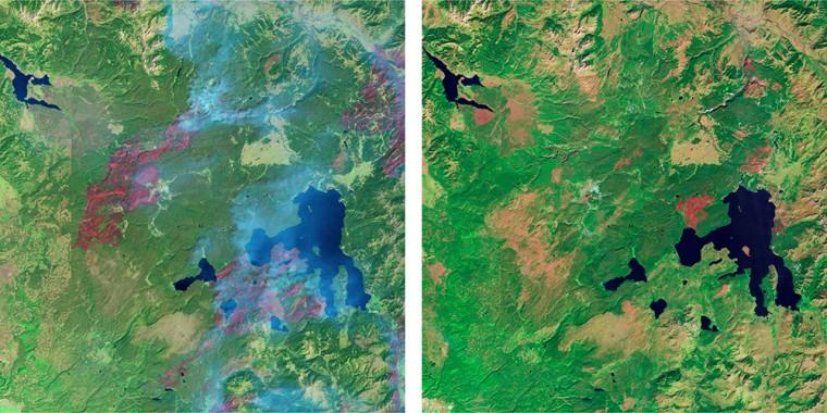 Landsat image of Yellowstone