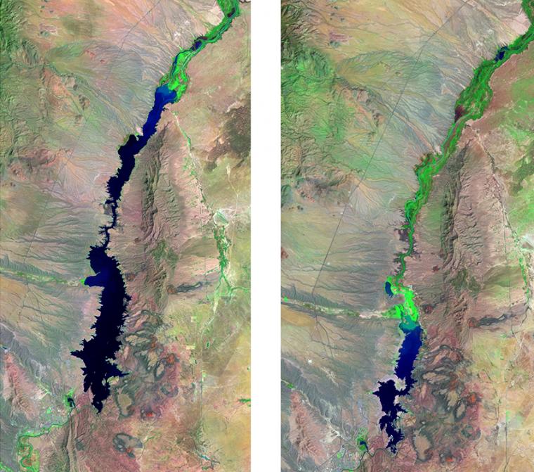 Landsat images of Elephant Butte Reservoir, New Mexico