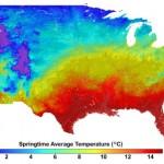 Springtime temp, 2090