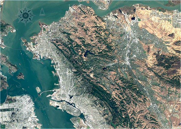 northern san francisco bay  1894  u00ab landsat science