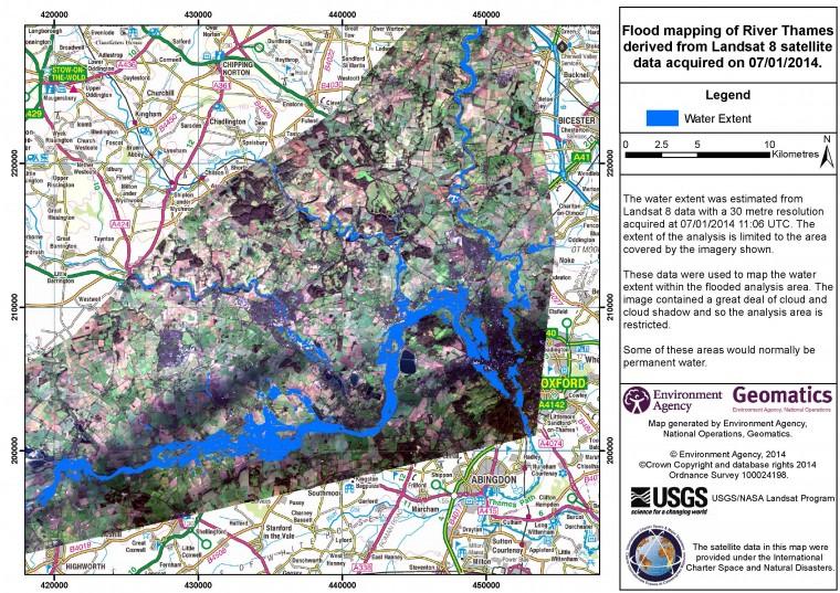 River Thames flood map