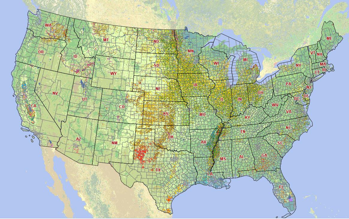 NASS Releases Geospatial Data For US Crops Landsat Science - Us crop map
