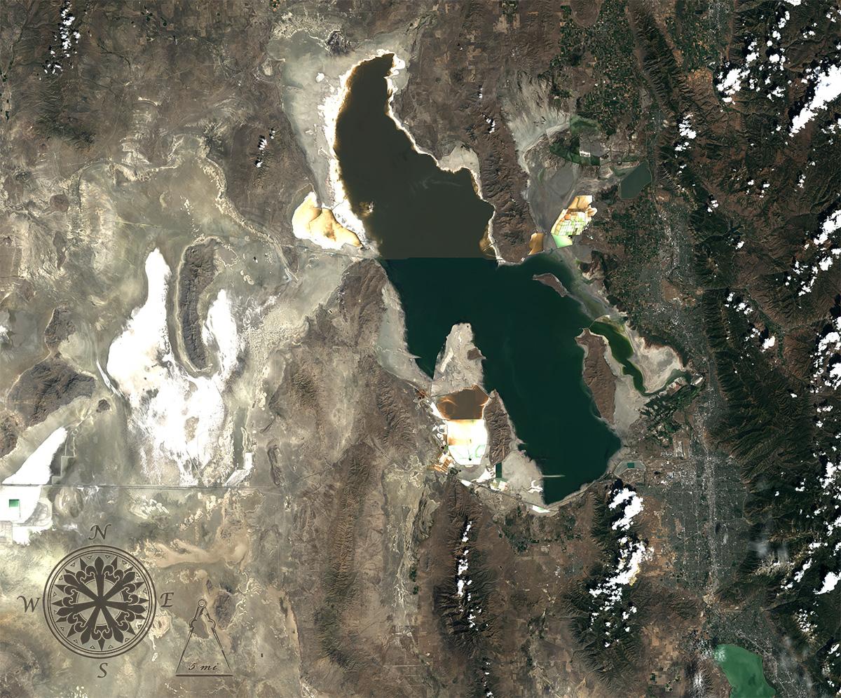 Landsat 8 image of Great Salt Lake 2013