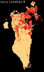 Bahrain built-up areas 2013