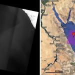 Red Sea Landsat image with Banding