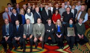 Landsat 8 team with award
