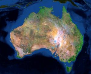 Landsat mosaic of Australia