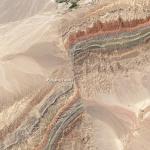 Faults in Xinjiang, Landsat 8 image