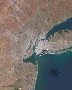 Landsat mosaic of NYC metro area