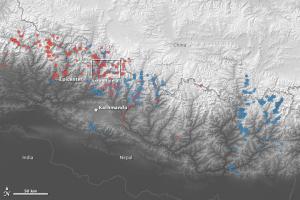 Satellite-located landslides