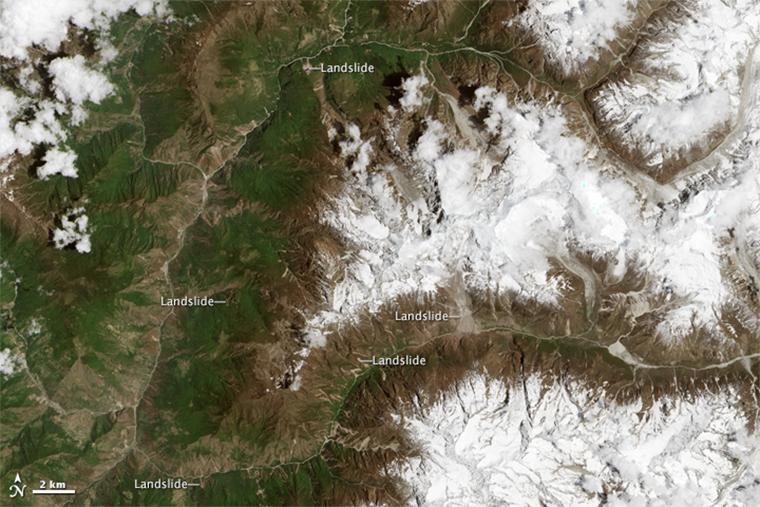 Landsat 8 image of study area