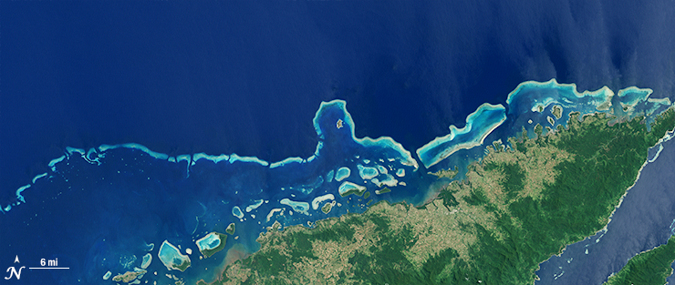 Landsat 7 image of Levu Fiji Sept 19 2002