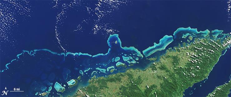 Landsat 8 image of Levu Fiji May 10 2015