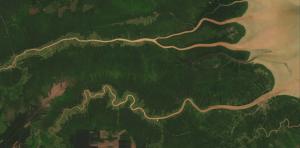 Landsat 8 image of coast of Indonesia
