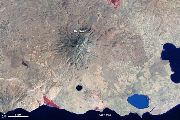 Landsat 2 image of Mt. Suphan in Sept 1975