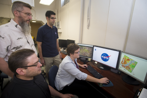 ISU/NASA team at work