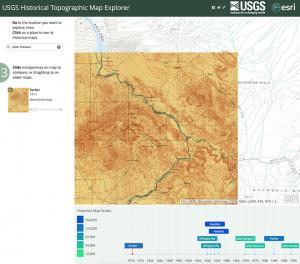 USGS-Esri Topographic Explorer tool