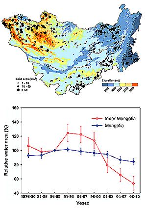 lakes on the Mongolian Plateau
