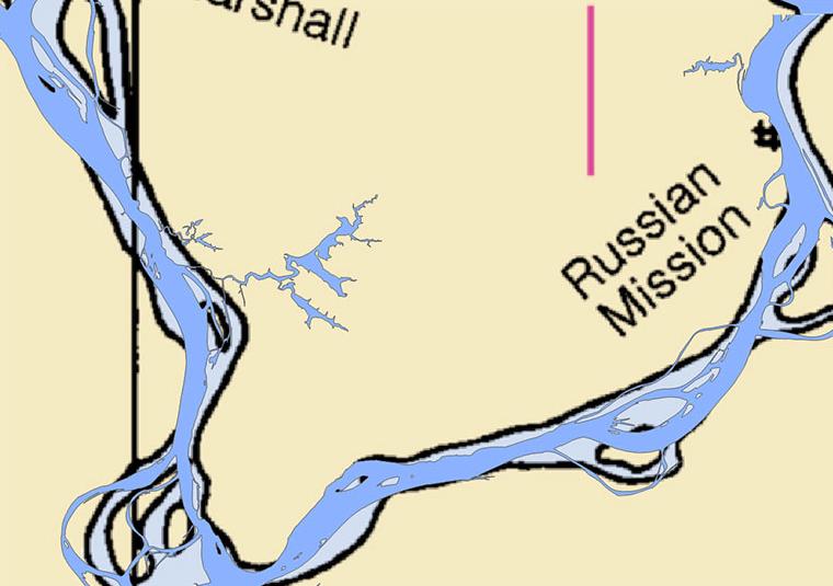 Edits to NOAA Chart for Yukon River