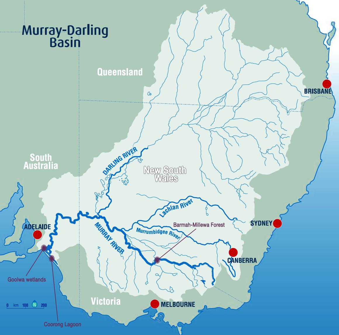Map Of Murray Darling Basin