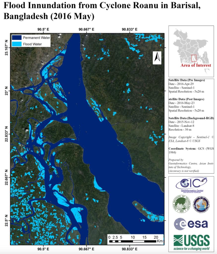 Barisal flood map