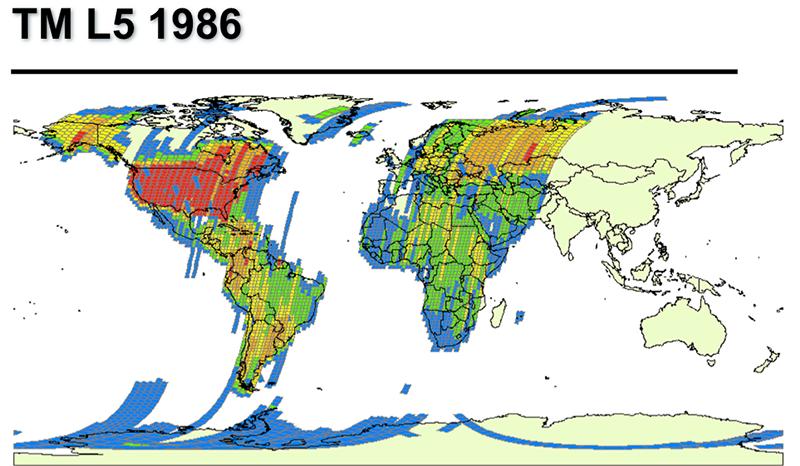 Landsat 5 TM collections for 1986