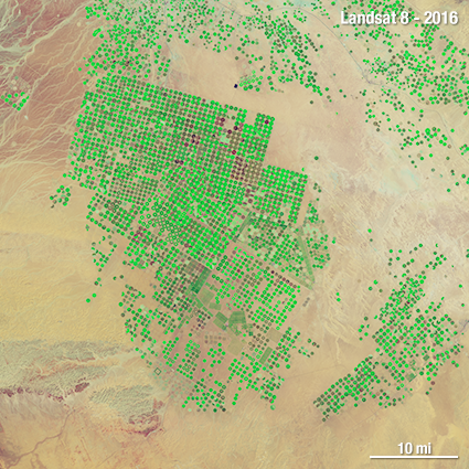 Landsat 8 Saudi Arabia