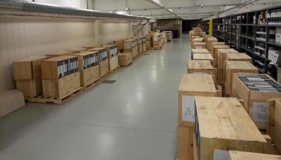 Crates of HDDTs