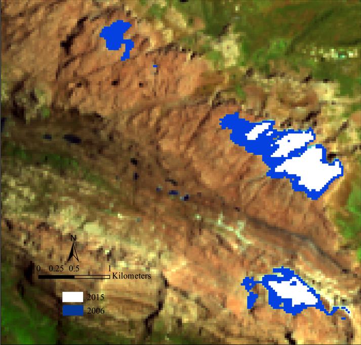 Ice loss of the Puncak Jaya glaciers