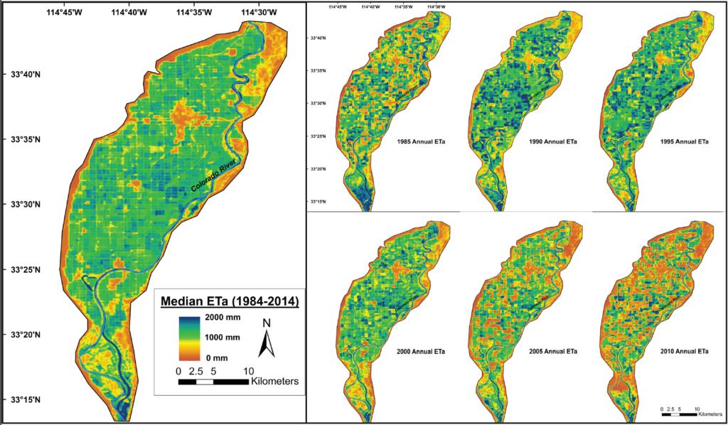median annual ET for Palo Verde Irrigation District