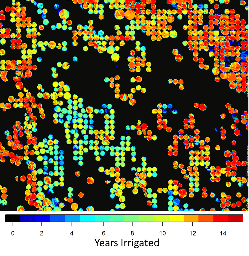 irrigation years for Nebraska