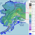 snowmelt dates for Alaska