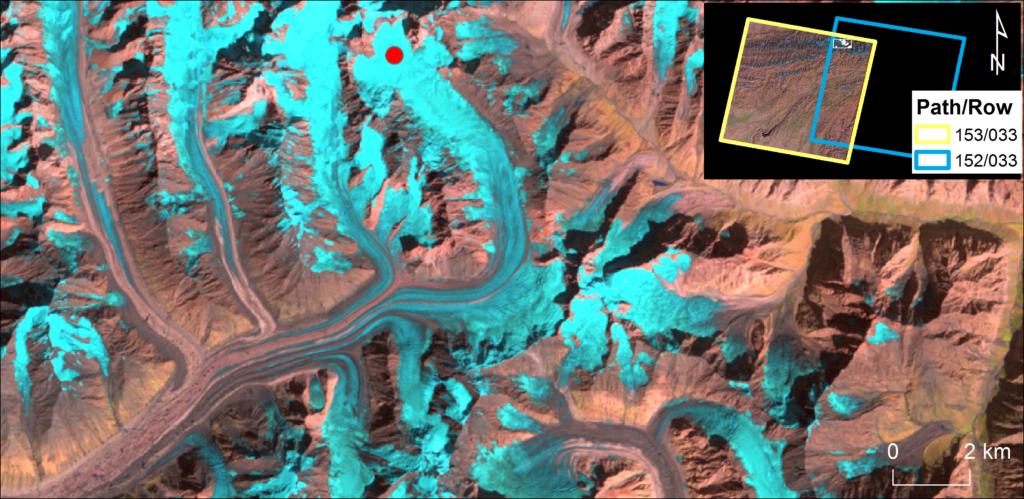 Landsat image overlap in the Pamirs