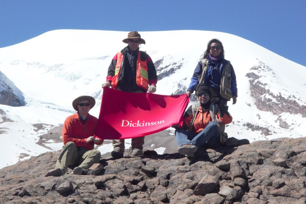Team on mountain