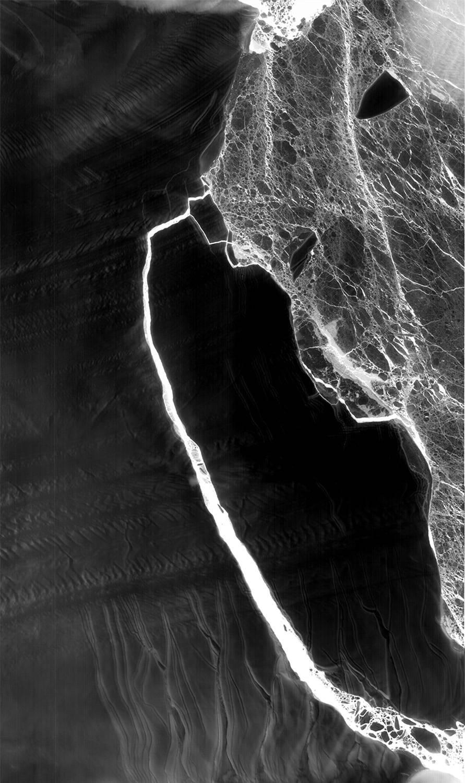 thermal image of Larsen C